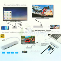 USB C to HDMI 4K Adapter for Samsung DeX Station, USB Type C Hub Desktop PC E...