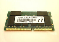 MICRON SDRAM 512MB SoDIMM PC133 144Pin 16Chip Notebook Laptop Speicher RAM NEU