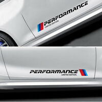 2Pcs Car Accessories Performance Car Side Emblem Decal Stickers For BMW