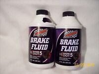 2 Brake Fluid Silicone DOT5  -  11 oz. each