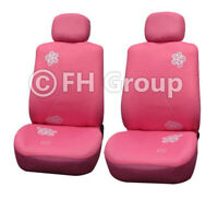 Exquisite Floral Car Seat Covers Front Bucket Seat Covers Pink