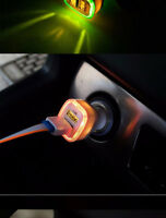 High Quality Brilliant 5V 2.1A Universal 2 USB port car charger with LED