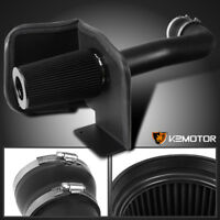 GMC 09-13 Sierra Yukon 4.8L 5.3L V8 Aluminum Matte Black Cold Air Intake+Filter