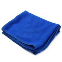 CZ-55 Blue Microfiber Car Cleaning Cloth Towel for Bathing/Cleansing(30 x 30cm)
