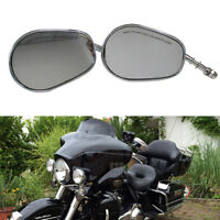 Motorcycle Side Mirrors Chrome CNC Full Metal For Harley Davidson Ultra Classic