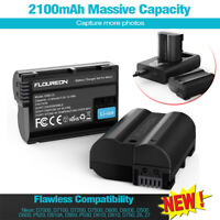 Camera Batteries Charger Set 2X 2100mAh Replacement Battery + Charger for Nikon