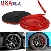 26FT Car Wheel Hub Rim Edge Protector Ring Tire Guard Sticker Rubber Strip Line