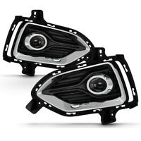 Fit 18-20 Hyundai Accent Clear Bumper Fog Lights with Switch+Bulbs+Relay+Wiring