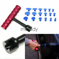 Car Body Paintless Dent Repair Removal Tool Kit Puller Lifter T-Bar 18 Glue Tabs