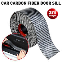 Accessories Carbon Fiber Car Door Plate Sill Scuff Cover Anti Scratch Sticker 2M
