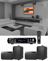 Rockville 1000w Home Theater System w/Bluetooth Receiver+(4) 4