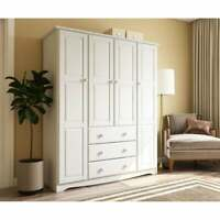 Family 4-Door Solid Wood Wardrobe/Armoire/Closet by Palace