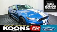 2019 Ford Mustang Shelby GT350 PERFORMANCE BLUE W/ WHITE STRIPES, NAVIGATION, TECHNOLOGY, B