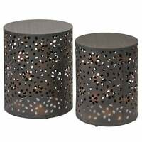 OSP Home Furnishings 2-piece Round Metal Accent Tables Bronze Small, Mini