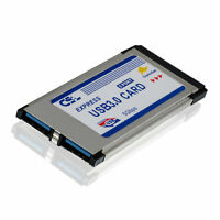 PCMCIA Express Card Karte 34mm 2 Port USB3.0 Win7 kompatibel für Notebook Laptop