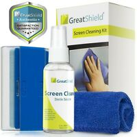 Screen Cleaning Kit Cleaner Spray Brush Microfiber Cloth Wipe LCD LED TV Camera