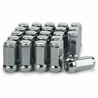 24 Chrome Truck Lug Nuts 14x1.5 for Chevrolet GMC Silverado Sierra 1.9