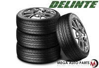 4 Staggered Delinte Thunder D7 Performance Tires 245/35ZR20 95W + 275/30ZR20 97W