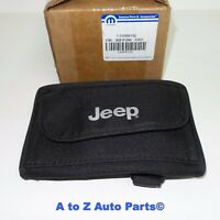 NEW 1997-2018 Jeep Wrangler Rollbar Sunglass Storage Bag or Holder With Logo,OEM