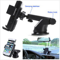 Portable Car QI Wireless Dashboard Windshield Charger Transmitter Phone Bracket