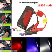 16800mA Car Jump Starter Battery Power Bank Emergency Battery Charger Pack Boost