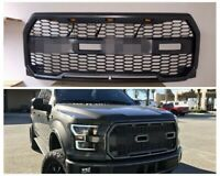 For 2015-17 Ford F150 Raptor Style FRONT Bumper Grille dark GRAY LED F