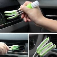 Vehicle Car Table Seams Clean Brush Two Head Mini Brush Air Vent Window-Blind US