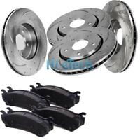 Front And Rear Brake Rotors & Ceramic Pads For Dodge Challenger 2009 - 2010