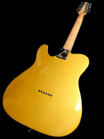 NEW 12 STRING NATURAL LEFT HANDED TELE STYLE ELECTRIC GUITAR - LIGHTWEIGHT BODY