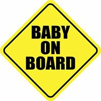 BABY ON BOARD CHILD SAFETY CAR 1 Special REMOVABLE MAGNET SIGN 4x4 DRIVE SAFE