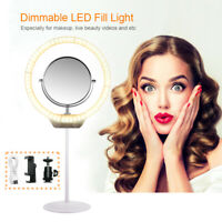 LED Camera Photography Ring Light for Makeup Video Studio w/ Mirror Clamp OG011