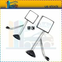 L+R side Chrome Hood Manual Mirrors ASSEMBLY For 02-17 International Transtar