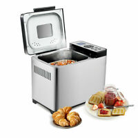 2 LB Bread Maker Stainless Steel Home Kitchen Bread Machine Programmable