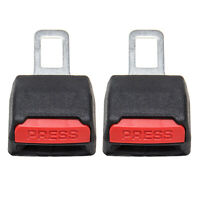 2 PC Car Safety Seat Belt Buckle Extension Extender Clip Alarm Stopper Universal