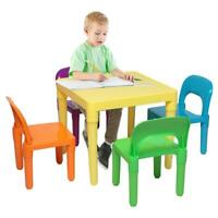 New Pleasure Kids Table and Chairs Play Set Toddler Child Toy Play Furniture