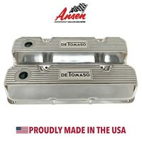 Ford 351 Cleveland Valve Covers Polished - De Tomaso - Ansen USA