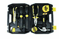 US SHIP 15PCS Portable Repair Hand Tools Kit with Case for Home/Office/Garage