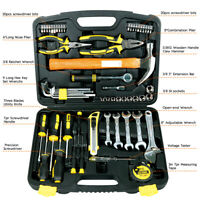 US STOCK 61-Piece Homeowner General Portable Repair Hand Tools Kit with Tool Box