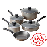 Cookware Set 9-Piece Pots And Pans Kitchen Home Nonstick Cooking Stainless Steel