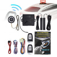 Car Alarm System Push Button Start Stop Engine Ignition + Remote Control Kits US