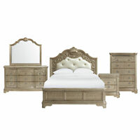 Picket House Furnishings Berlin Queen Panel 5PC Bedroom Set VC600QB5PC