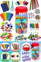 GoodyKing Arts and Crafts Supplies for Kids - Craft Art Supply Jar Kit for Stude