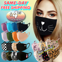 Face Mask Cotton Double Layer Reusable Washable Fashion Printed Mask Unisex