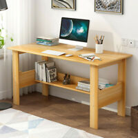 Wood Computer Desk PC Laptop Table Study Workstation Home Office Furniture US