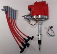 AMC/JEEP INLINE 6 232 258 4.2L 6 CYL HEI DISTRIBUTOR +RED Plug Wires USA CJ5 CJ7