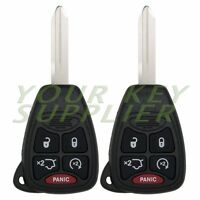 2 New Replacement Keyless Remote Head Key for Jeep Commander Liberty Cherokee