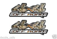 4X4 OFF ROAD Truck Camo Camouflage Decal Emblem (2 pack a006bl