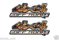 4X4 OFF ROAD Truck Camo Camouflage Decal Emblem (2 pack) a008bl