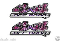 4X4 OFF ROAD Truck Pink Camouflage Decal Emblem (2 pack) a002bl