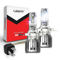 LASFIT H4 9003 HB2 LED Headlight Bulb Conversion Kit High Low Beam 6000K 7600LM